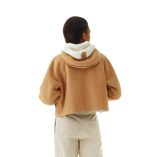 LOEWE Shearling Jacket Camel front