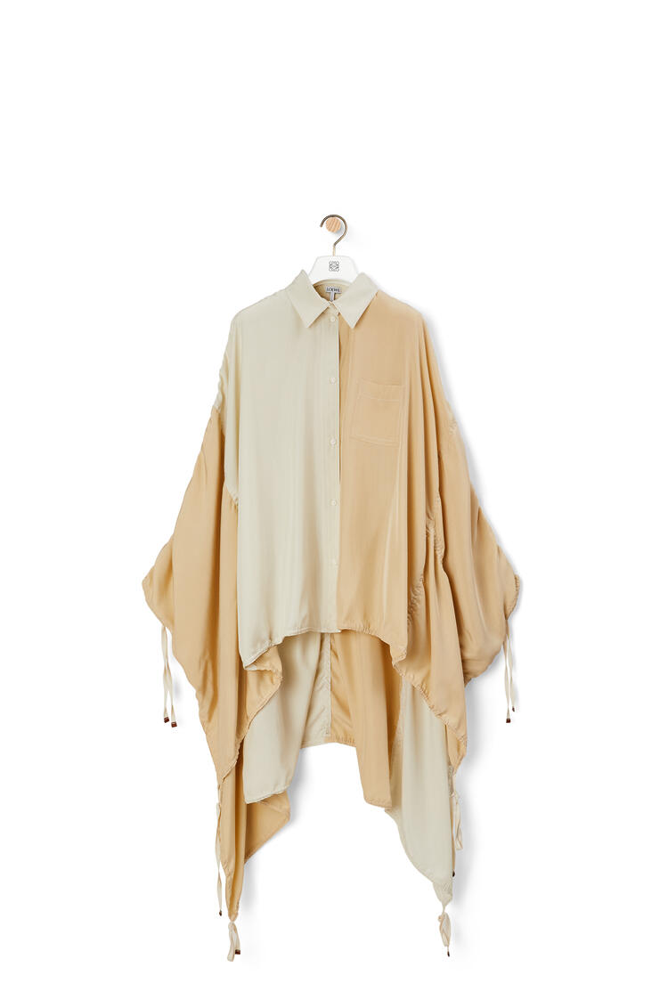 LOEWE Oversize parachute blouse in silk Ecru/Sand pdp_rd