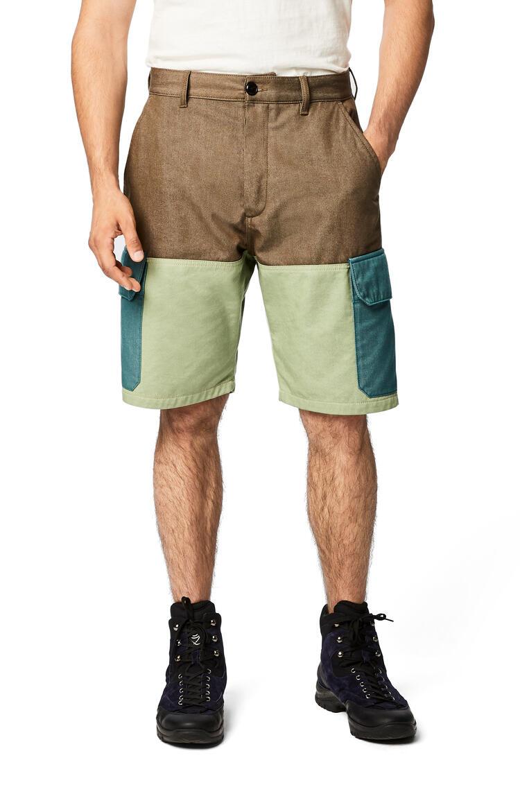 LOEWE Shorts in cotton Khaki Green/Green pdp_rd