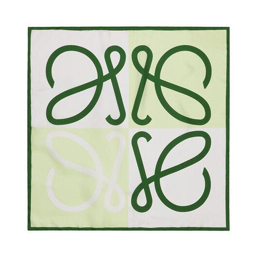 LOEWE 90X90 Scarf Giant Anagram Green/White all