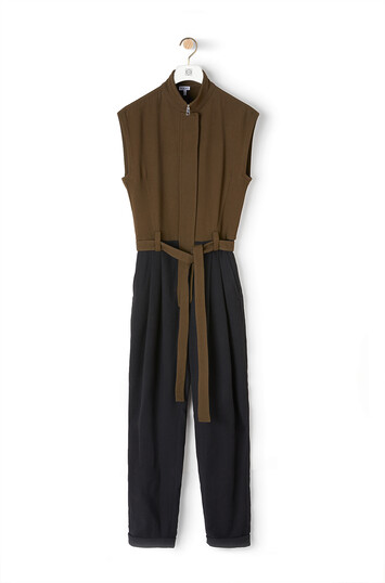 LOEWE Jumpsuit Khaki Green/Black front