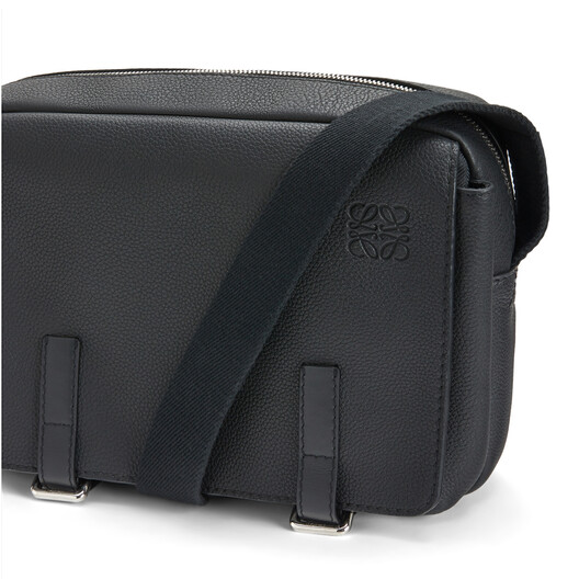 LOEWE Military Messenger Small Bag Black front