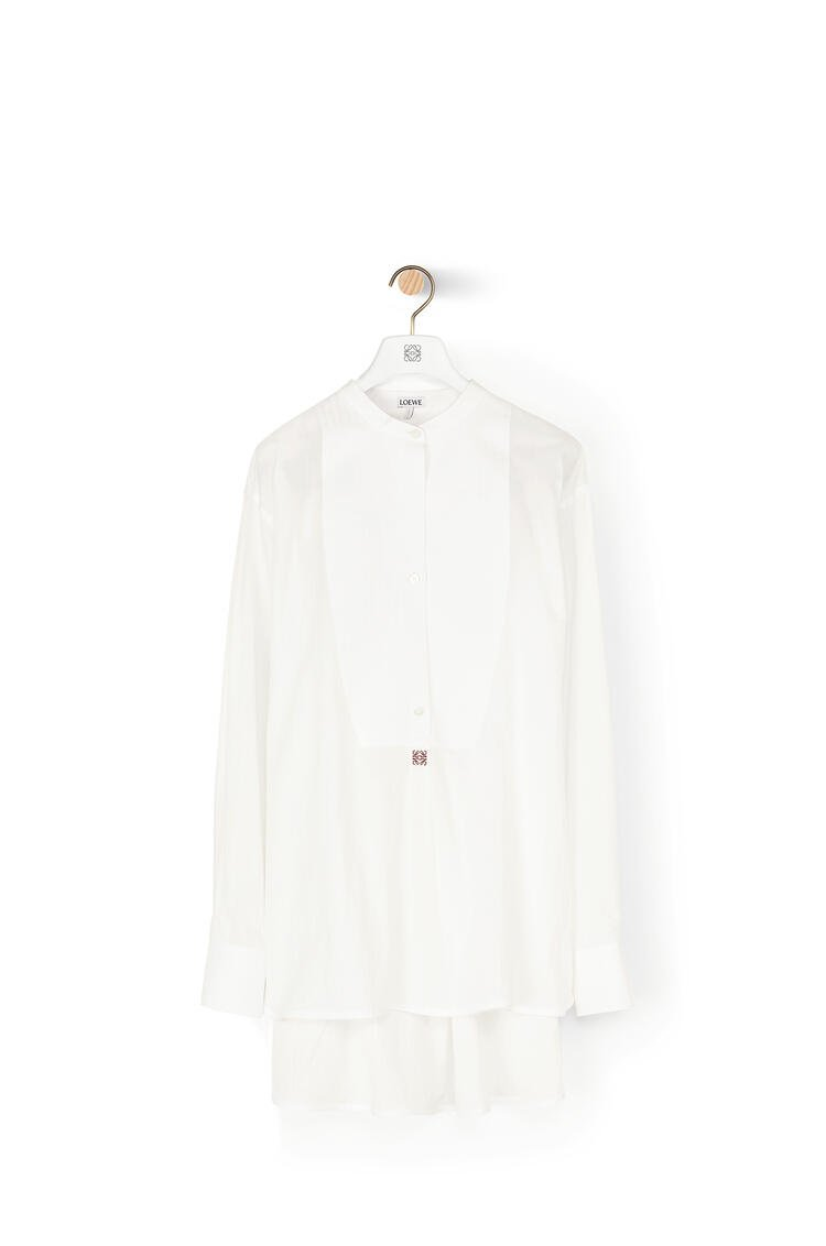 LOEWE Anagram Embroidered Oversize Tunic In Cotton White pdp_rd