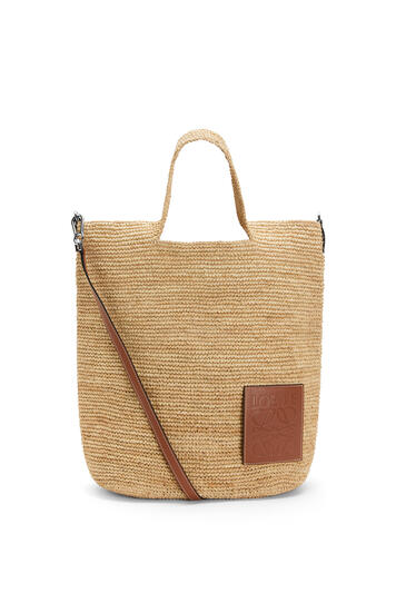 LOEWE Slit bag in raffia and calfskin Natural pdp_rd