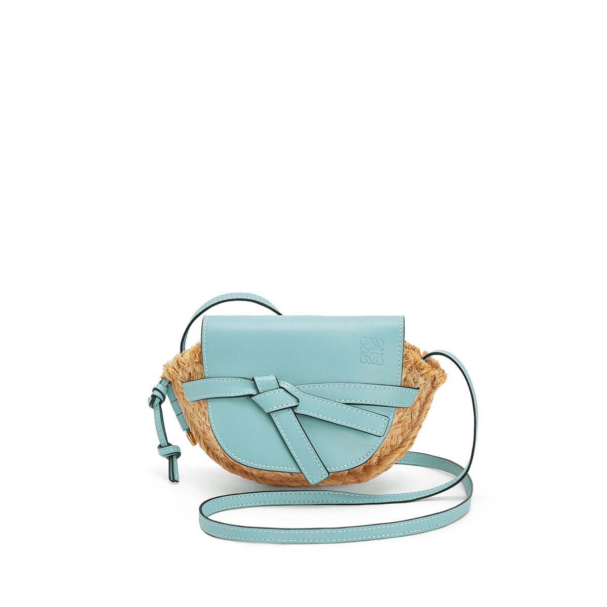 LOEWE Gate Mini Bag Light Blue/Natural front