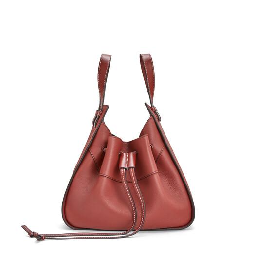 LOEWE Hammock Drawstring Small Bag Garnet front