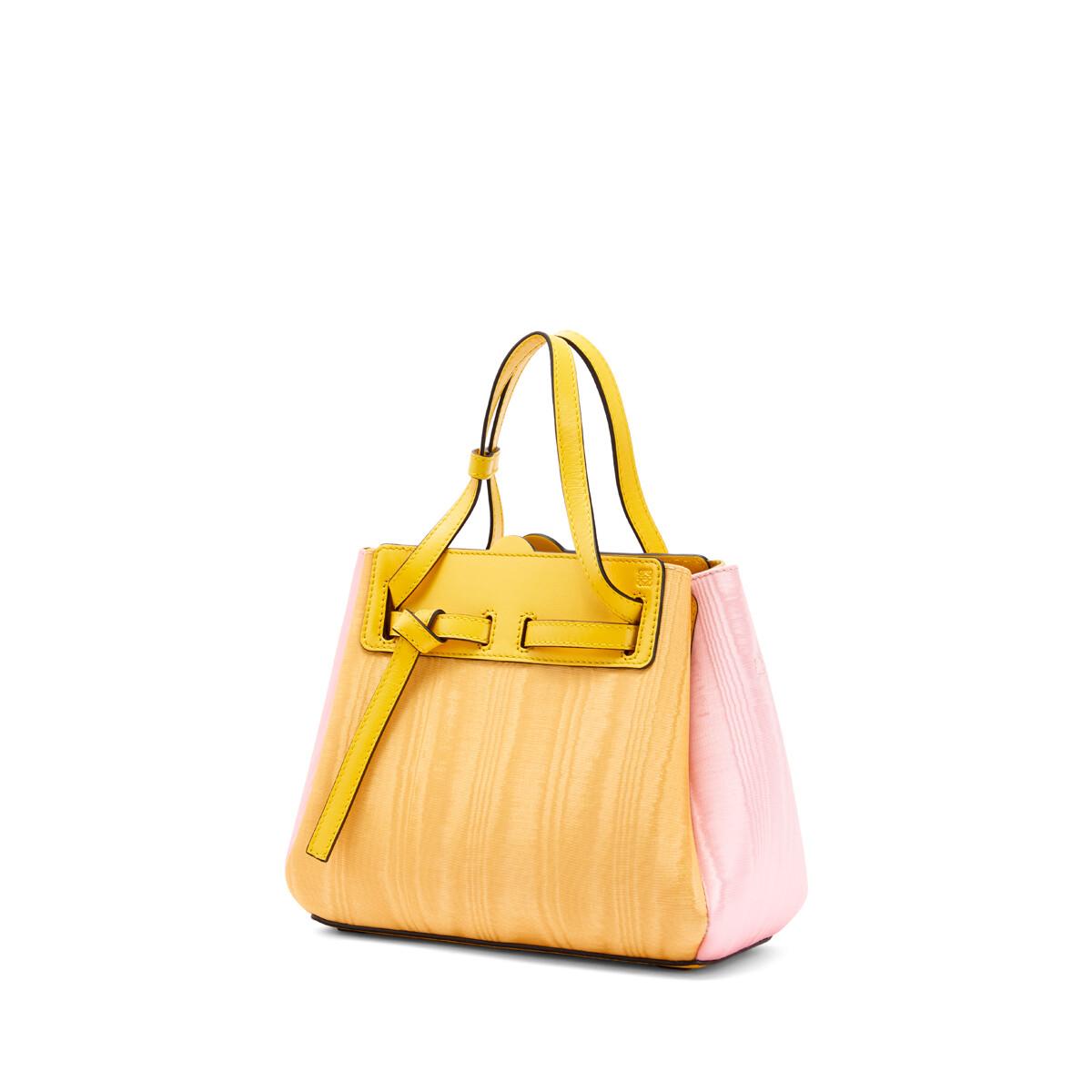 LOEWE Lazo迷你手袋 Yellow/Pink front