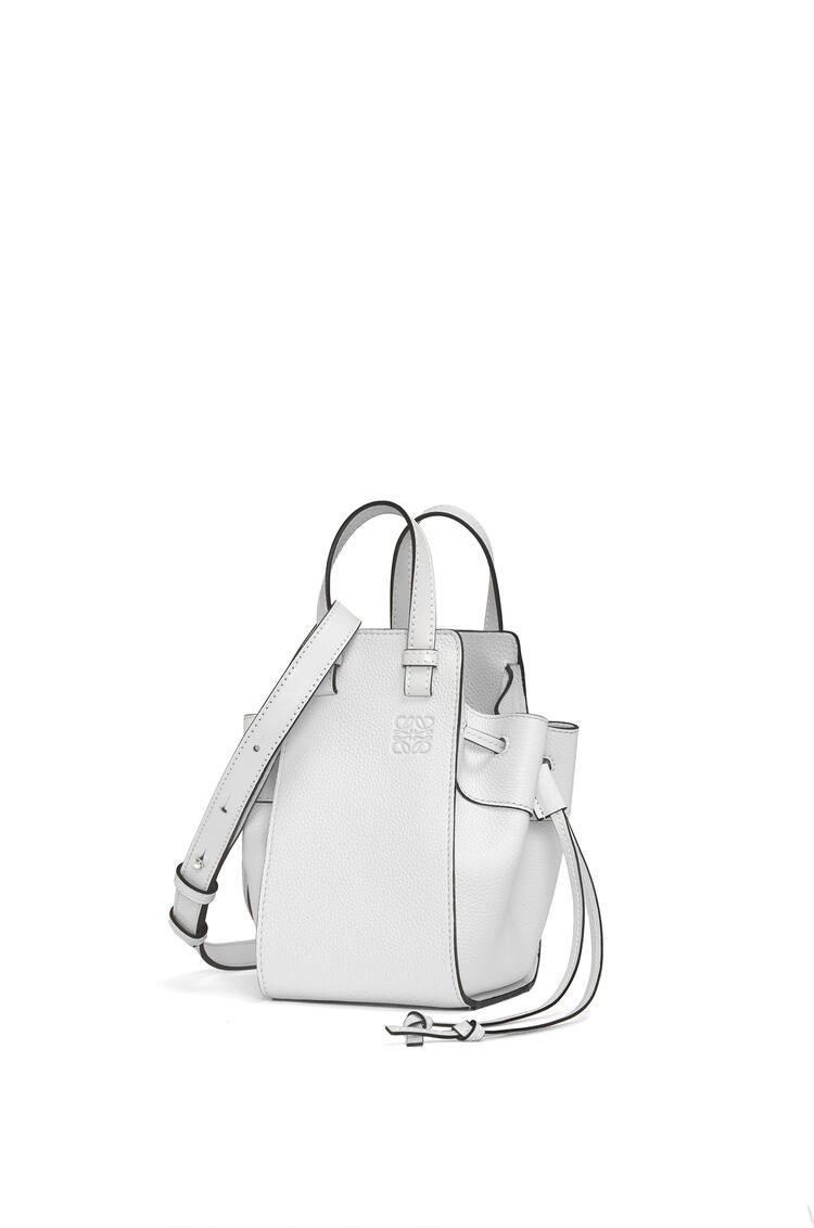 LOEWE Mini Hammock Drawstring bag in soft grained calfskin Soft White pdp_rd
