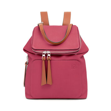 LOEWE Goya Small Backpack Raspberry/Wine front