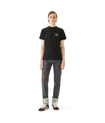 LOEWE アナグラム Tシャツ ブラック front