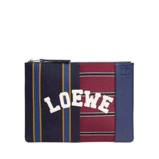 LOEWE Medium Flat Pouch Varsity Multicolor/Marine all
