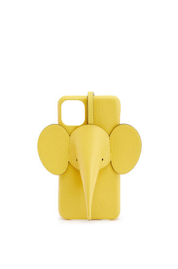 LOEWE Elephant cover for iPhone 11 Pro Max in classic calfskin Yellow pdp_rd