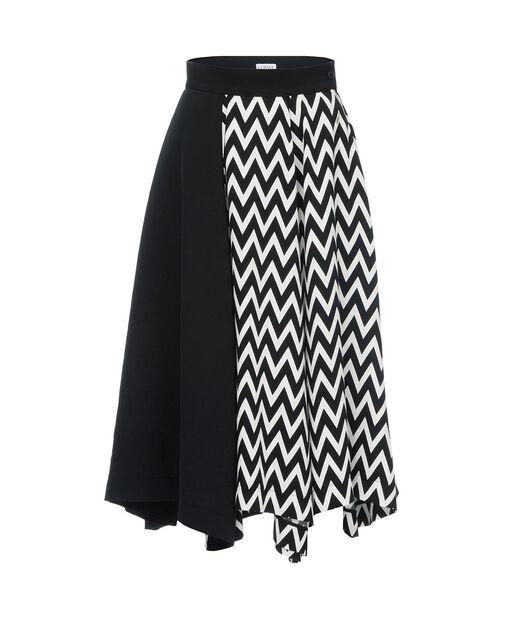 Asymmetric Herringbone Skirt