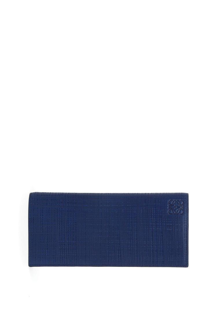 LOEWE Long horizontal wallet in calfskin Navy Blue pdp_rd