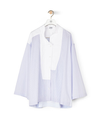 LOEWE Stripe Oversize Shirt Baby Blue/White front