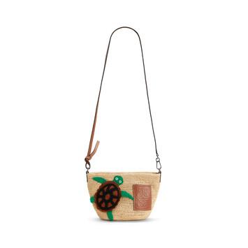 LOEWE Paula's Pochette Turtle Bag Natural/Tan front