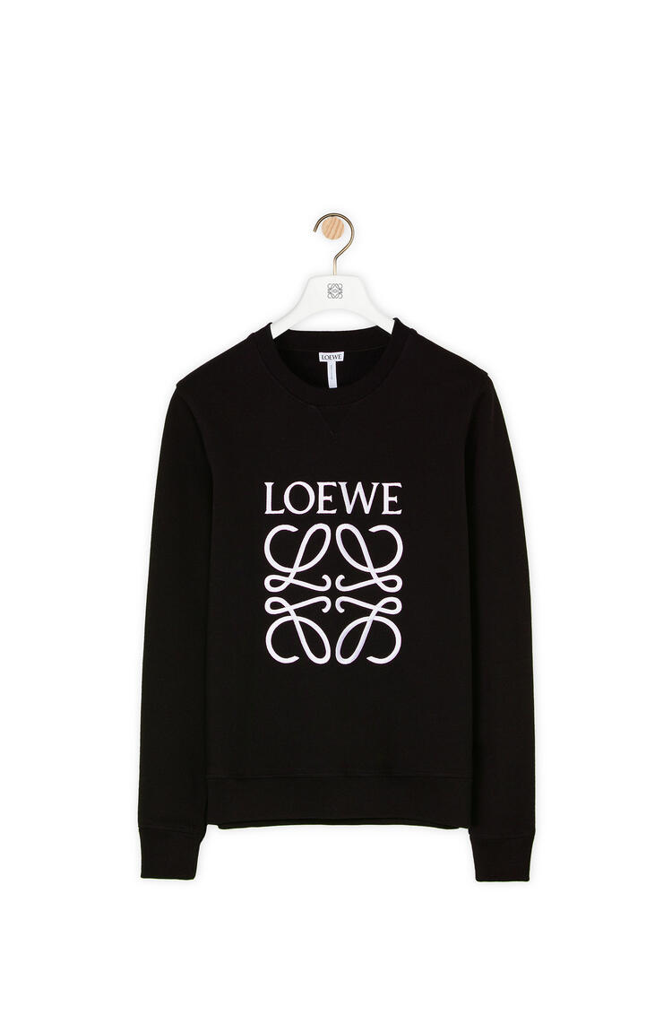 LOEWE Anagram embroidered sweatshirt in cotton Black pdp_rd