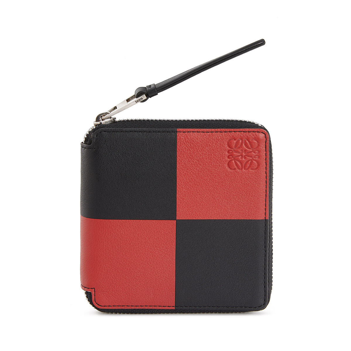 LOEWE Square Zip Wallet Bicolor Black/Red front