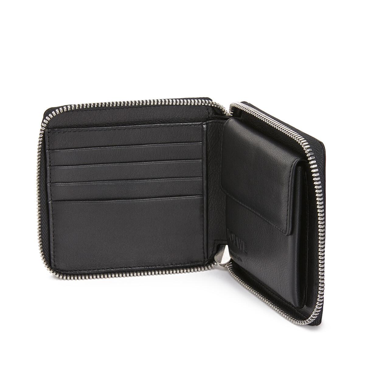 LOEWE Square Zip Wallet Animals Black/Red front