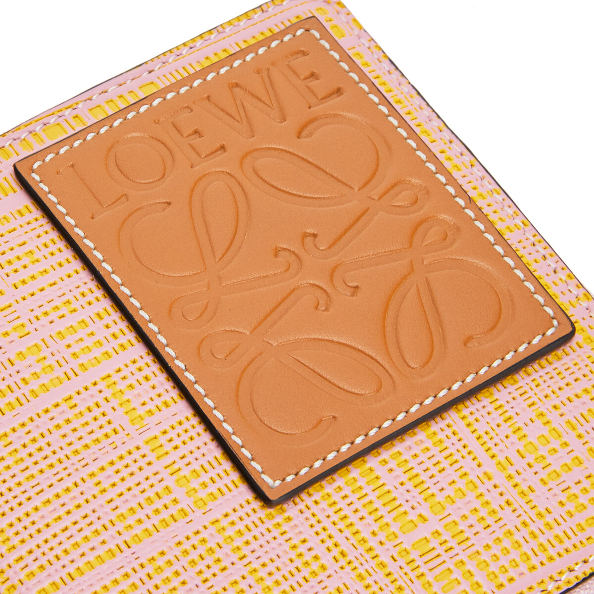 LOEWE 方形拉链钱包 Yellow/Pink front