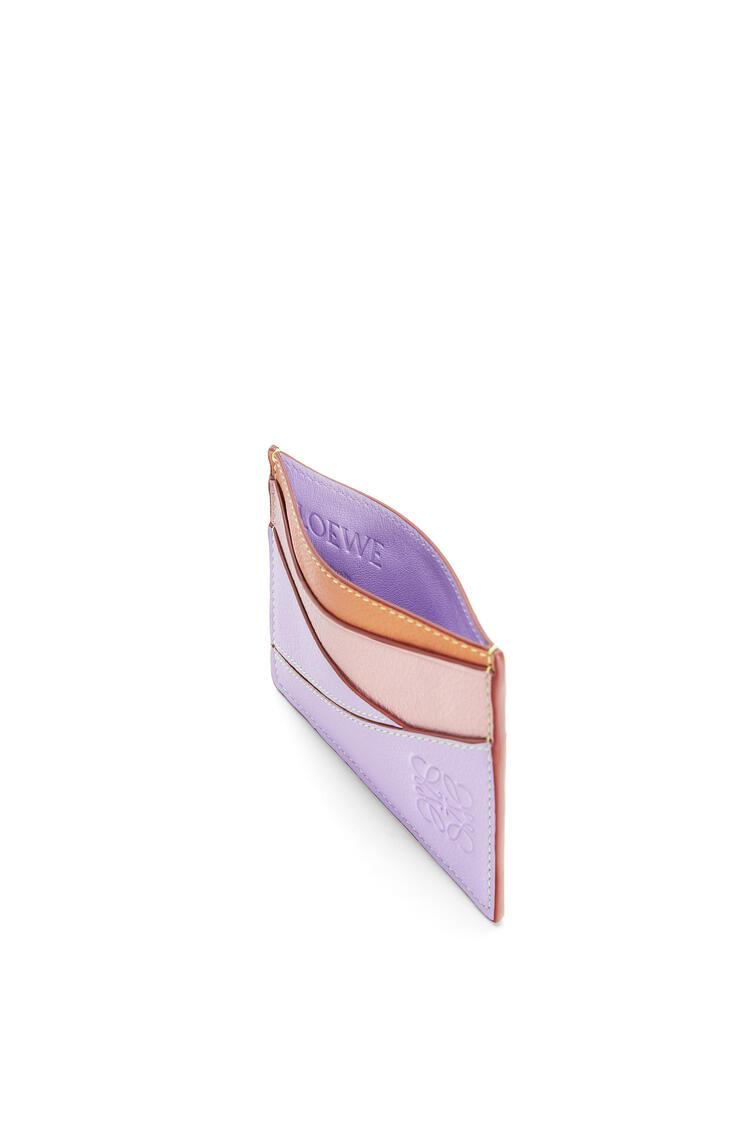 LOEWE Tarjetero plano en piel de ternera clasica Malva/Albaricoque Suave pdp_rd