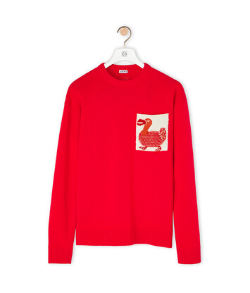 LOEWE Sweater Patch Pocket Dodo Red front