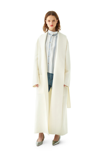 LOEWE Robe Coat Off-White front