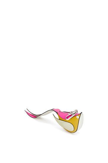 LOEWE Bird charm in calfskin Kaolin/Sage pdp_rd