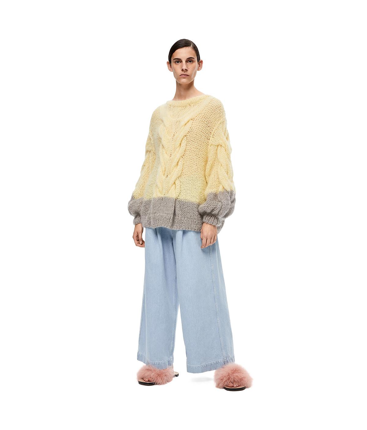 LOEWE Oversize Sweater Amarillo/Gris front