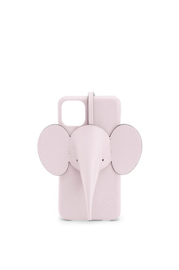 LOEWE Elephant cover for iPhone 11 Pro Max in pearlized calfskin Icy Pink pdp_rd