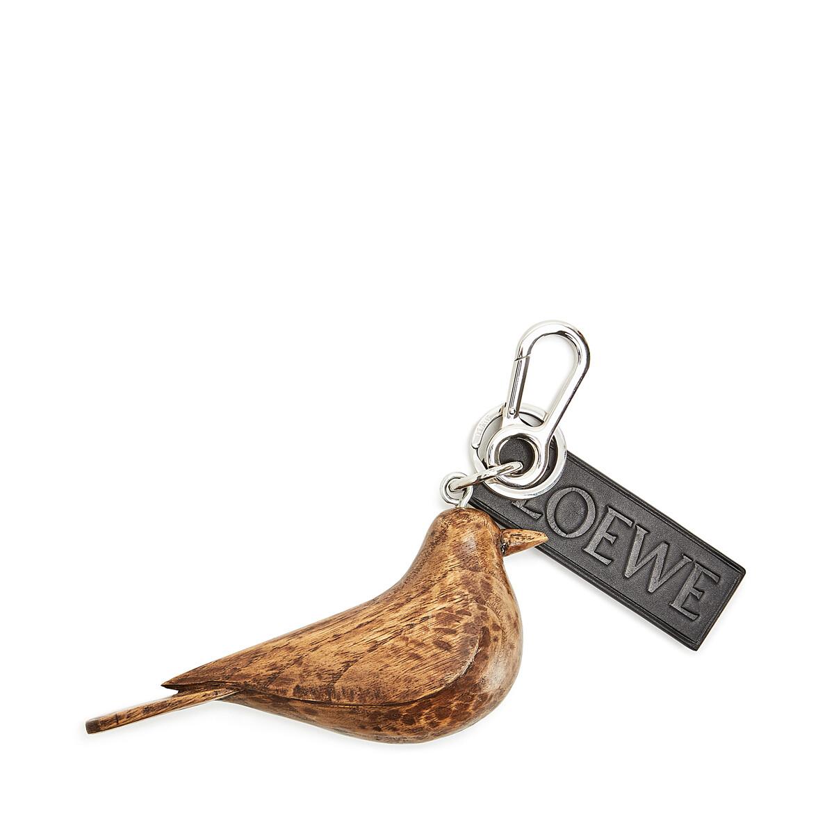 LOEWE Bird Charm Chestnut front