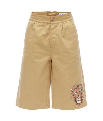 LOEWE Shorts Lion Beige front