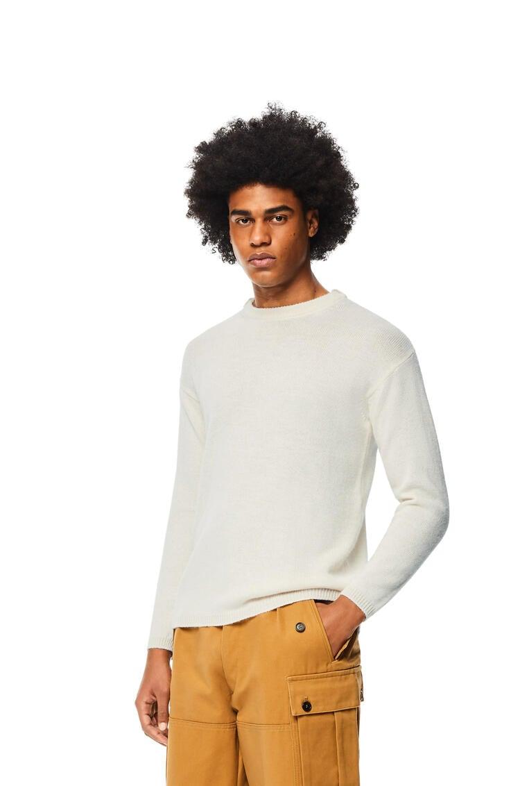 LOEWE Crewneck sweater in alpaca and wool Off-white pdp_rd