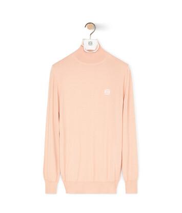 LOEWE Angram Turtleneck Sweater Flesh front