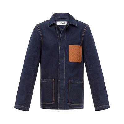 LOEWE Workwear Jacket Indigo front