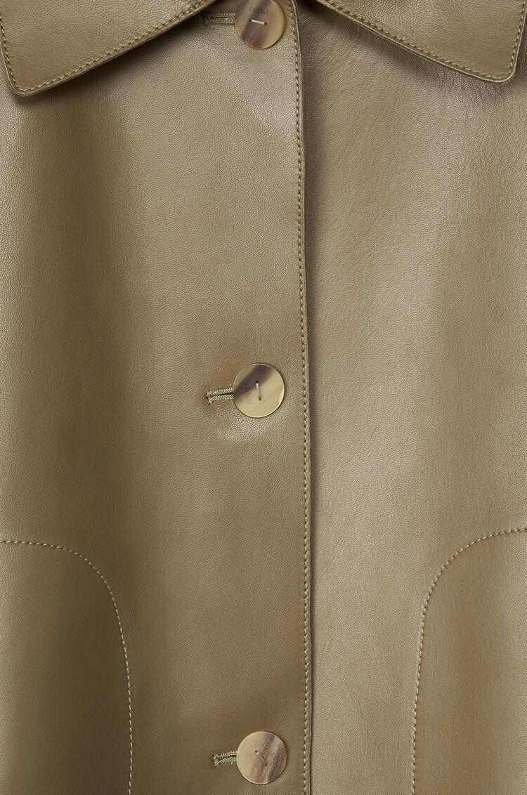 LOEWE Button jacket in nappa Khaki Green pdp_rd