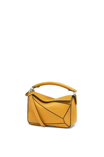 LOEWE Mini Puzzle bag in classic calfskin Narcisus Yellow pdp_rd