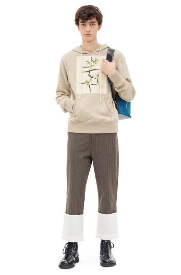 LOEWE Striped Fisherman Trousers 深棕色 front