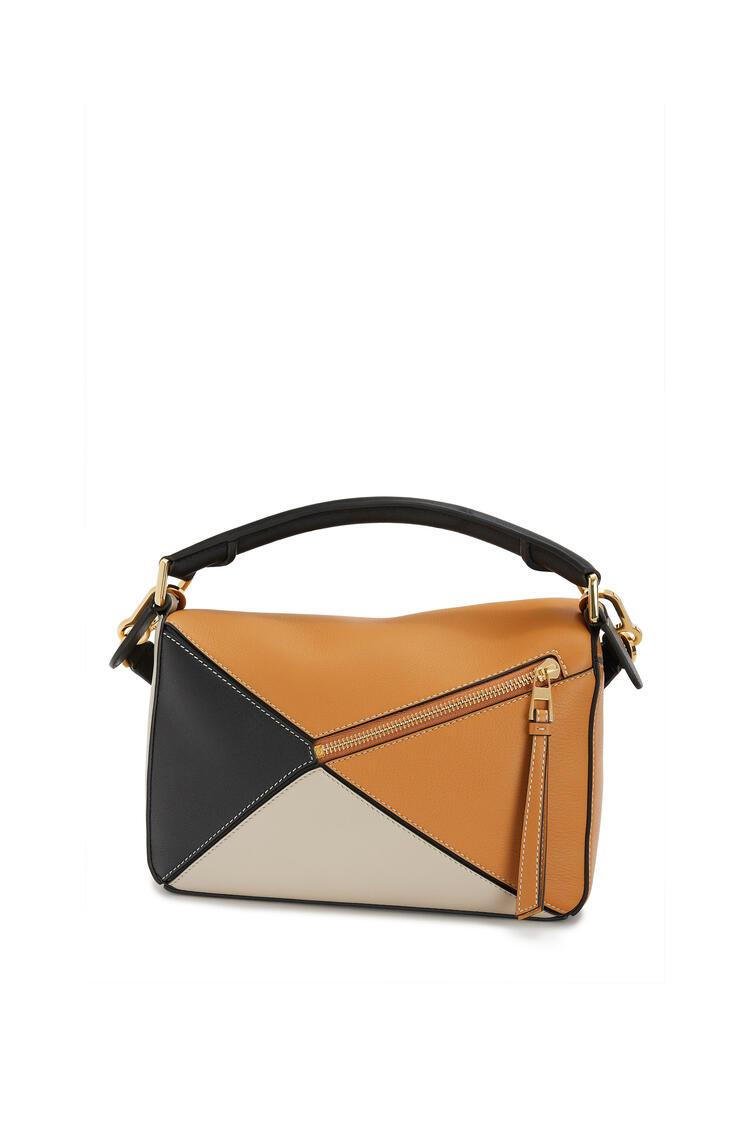 LOEWE Puzzle Bag In Classic Calfskin Amber/Light Oat pdp_rd