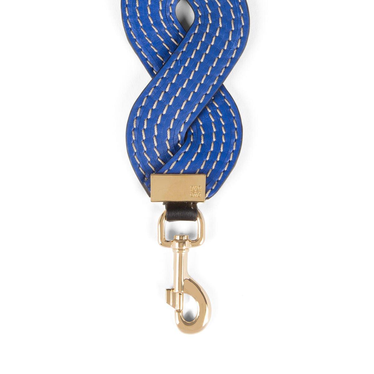 LOEWE 波纹缝线肩带 电光蓝 all