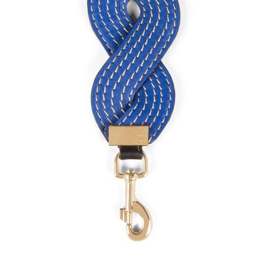 LOEWE Bandolera Wavy Stitches Azul Electrico front
