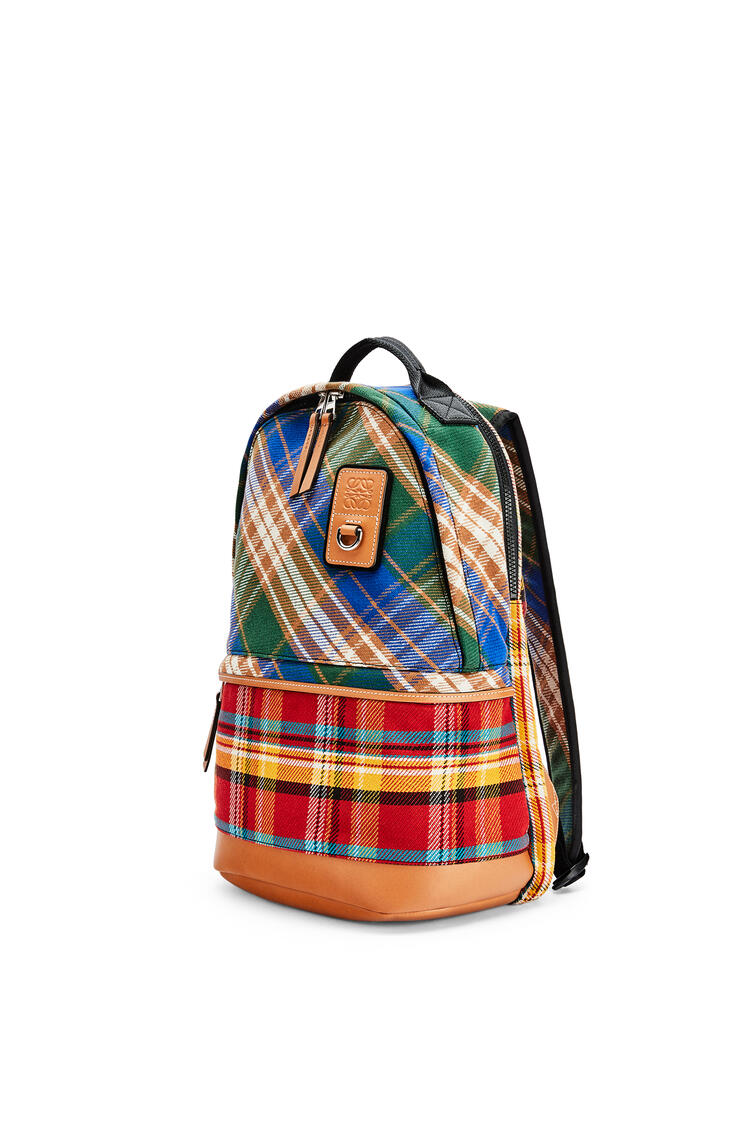 LOEWE Small Backpack in tartan Multicolor pdp_rd