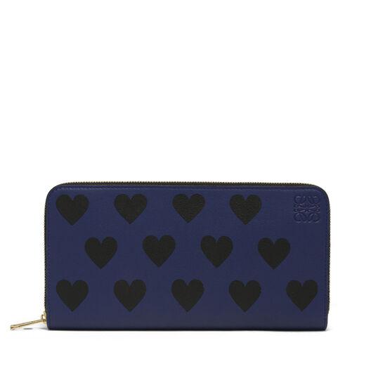 LOEWE Zip Around Wallet Hearts Royal Blue/Black all