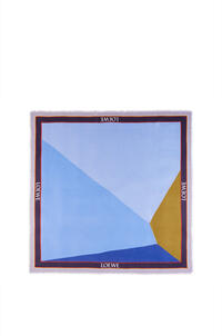 LOEWE Puzzle scarf in modal and cashmere Light Blue/Bronze pdp_rd