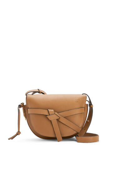 LOEWE Small Gate bag in pebble grain calfskin Oak pdp_rd
