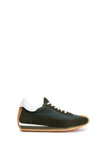 LOEWE Flow runner in nylon Dark Green/White pdp_rd