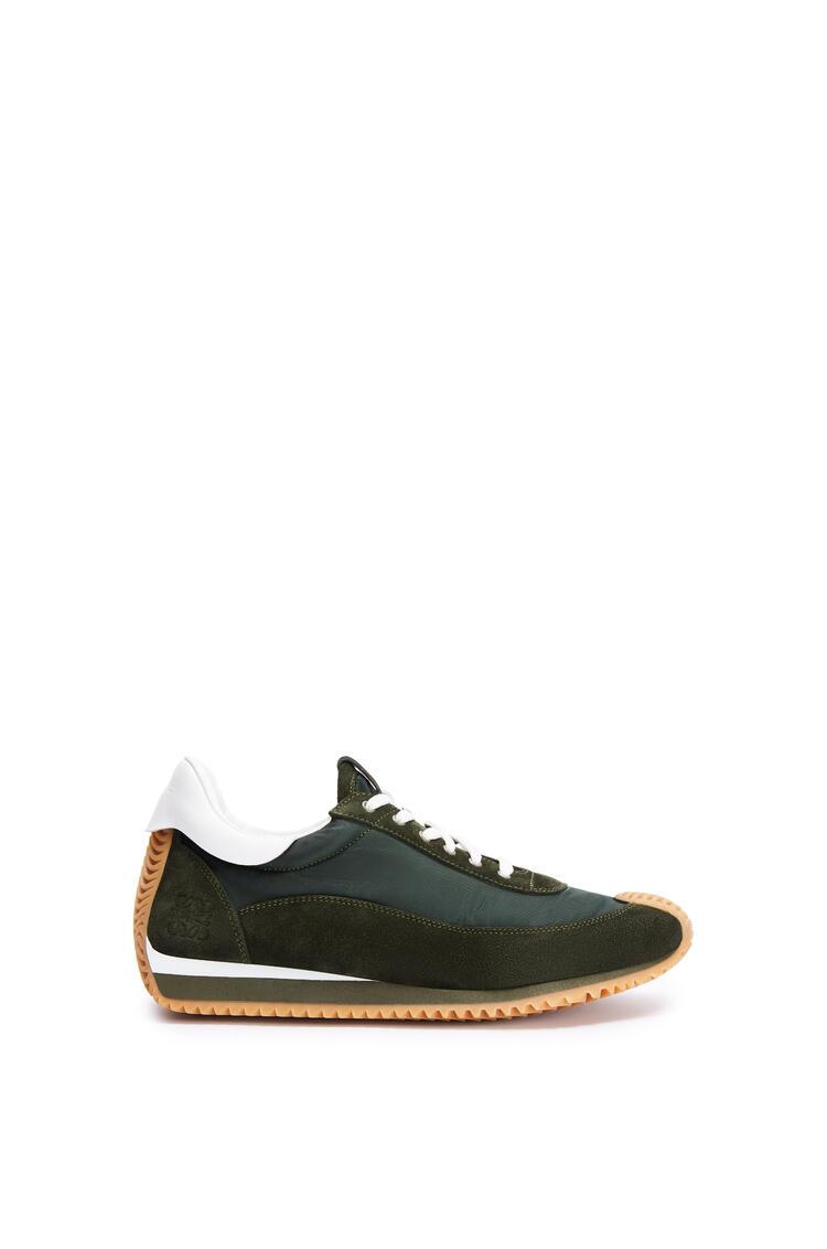 LOEWE 织物流畅跑鞋 Dark Green/White pdp_rd