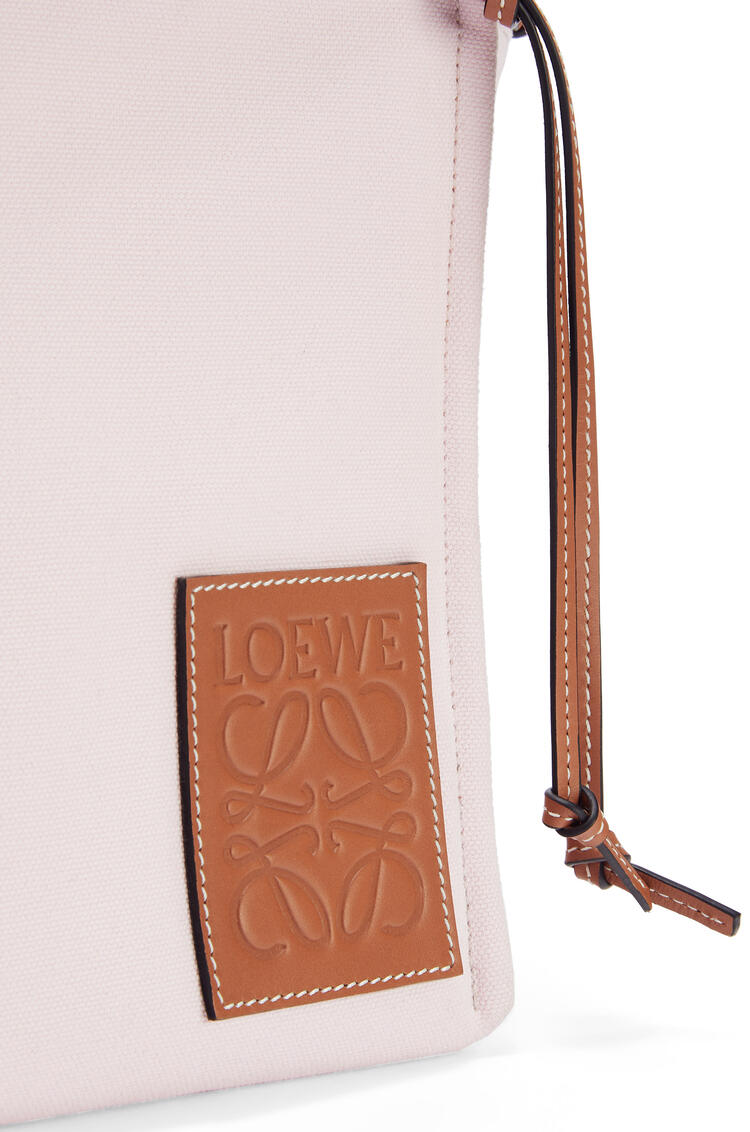 LOEWE クッショントート スモール(キャンバス&カーフスキン) ライトピンク pdp_rd