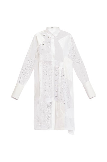 LOEWE Shirtdress Broderie Anglaise White front
