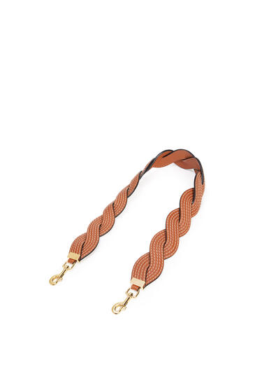 LOEWE Wavy Stitches Strap In Soft Calfskin And Classic Calfskin Tan pdp_rd